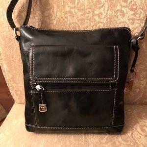 Handbags - Gianni Bernini Leather Crossbody Bag. Nice!